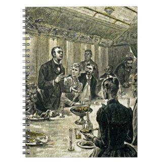 Victorian Dinner Party Vintage Illustration Spiral Notebook