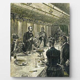 Victorian Dinner Party Vintage Illustration Plaque