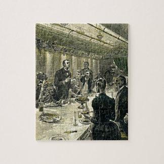 Victorian Dinner Party Vintage Illustration Puzzle