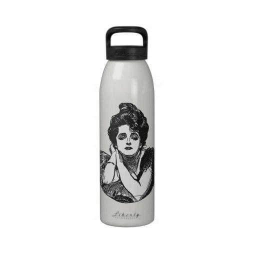 Victorian Diva B/W Drinking Bottles