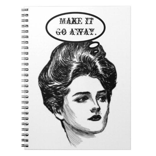 Victorian Diva Humor Notebook
