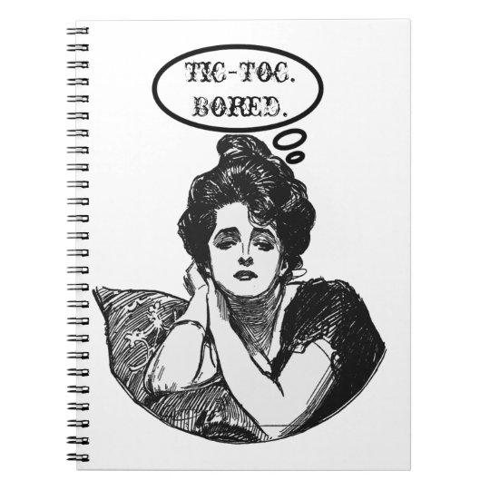 Victorian Diva Humor Spiral Notebook