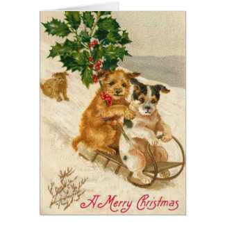 Victorian Dog Christmas Card