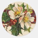 Victorian Dogwood Christmas sticker