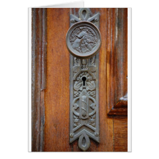 Victorian Doorknob and keyhole Card