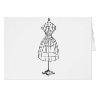 Victorian Dress Form Greeting Card