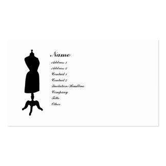Victorian Dress Form Silhouette Double-Sided Standard Business Cards (Pack Of 100)