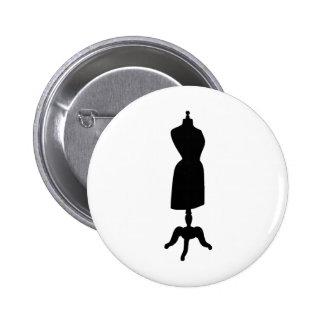 Victorian Dress Form Silhouette 2 Inch Round Button