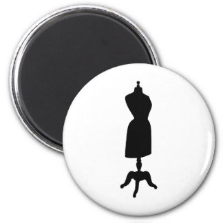 Victorian Dress Form Silhouette 2 Inch Round Magnet