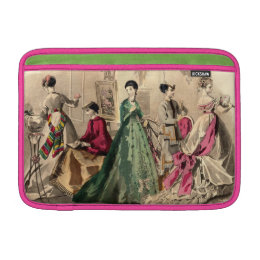 Victorian Dress With Pink Bow MacBook Sleeve