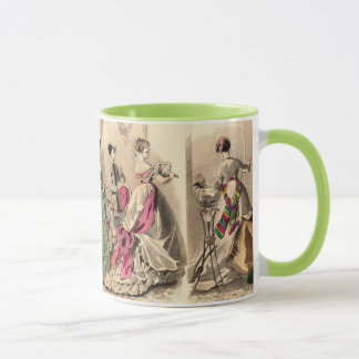Victorian Dress With Pink Bow Mug