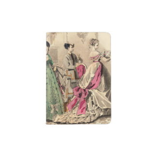 Victorian Dress With Pink Bow Passport Holder