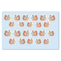 Victorian dressed kitty cats family tissue paper