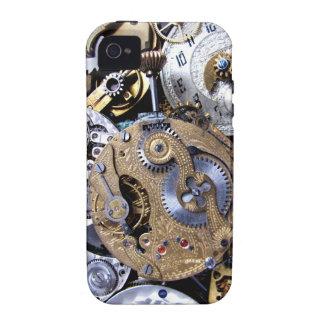 ¡Victorian duro Pocketwatch de Steampunk con los Vibe iPhone 4 Carcasa