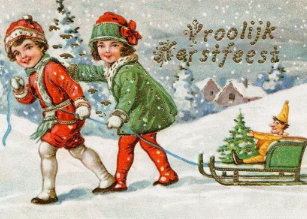 Dutch christmas cards zazzle victorian dutch vroolijk kerstfeest christmas card m4hsunfo