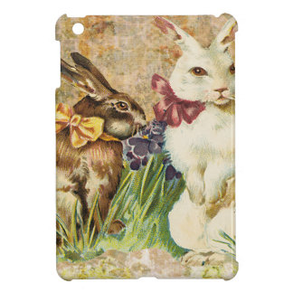 Victorian Easter Bunnies Rabbits In Grass iPad Mini Covers