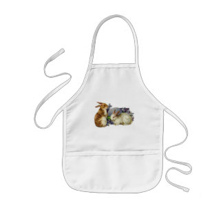 Victorian Easter Bunny Apron for children