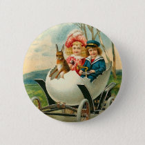 Victorian Easter Bunny Button