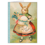 Victorian Easter Bunny Card