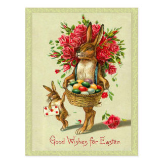 Victorian Easter Bunny Postcard