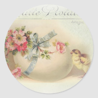 Victorian Easter chic and egg Classic Round Sticker