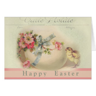 Victorian Easter chic and egg Happy Easter Card