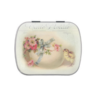 Victorian Easter chic and egg Jelly Belly Tin