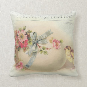 Victorian french easter gifts on zazzle victorian easter chic and egg throw pillow negle Choice Image