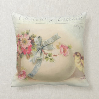 Victorian Easter chic and egg Throw Pillow