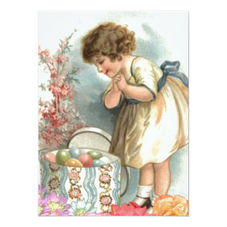 victorian easter eggs card