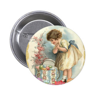 victorian easter eggs pinback button