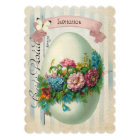 Victorian Easter Flower Egg Easter Egg Hunt Card