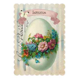 Victorian Easter Flower Egg Easter Egg Hunt Card