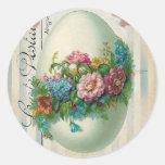 Victorian Easter Flower Egg Sticker