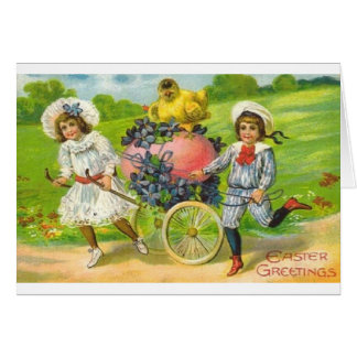 Victorian Easter Greeting Card
