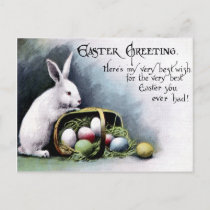 Victorian Easter Holiday Postcard