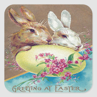 Victorian Easter Square Sticker
