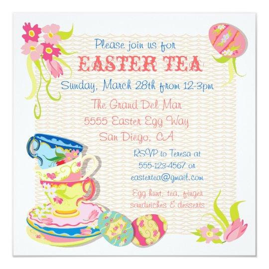 Victorian Easter Tea brunch Invitations