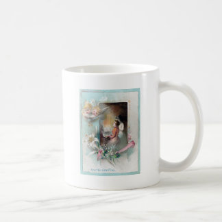 Victorian Easter with Woman at Piano and Cherubs Mugs