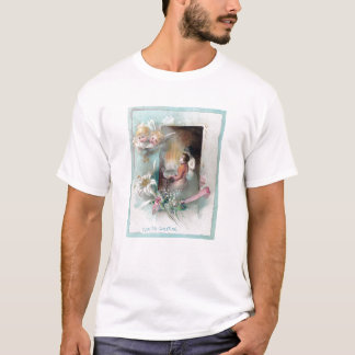 Victorian Easter with Woman at Piano and Cherubs T-Shirt