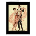 Victorian Edwardian Couple Dancing Card