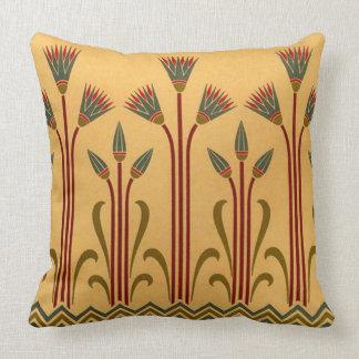 Victorian Egyptian Flower Throw Pillow