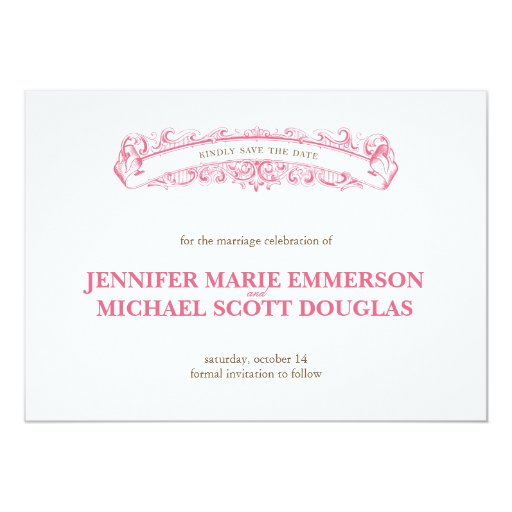 victorian elegance save the date card