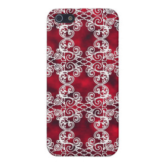 Victorian Elegant Ruby & Lace Speck Case iPhone4