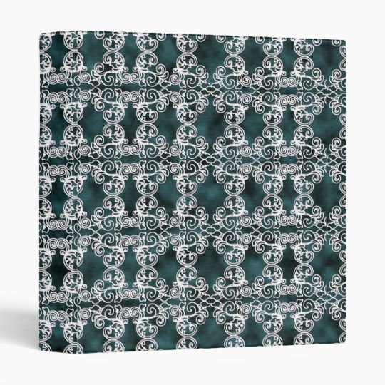 Victorian Elegant Teal & Lace Print Avery Binder