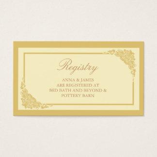 Victorian, elegante, tarjeta del registro del boda tarjetas de visita