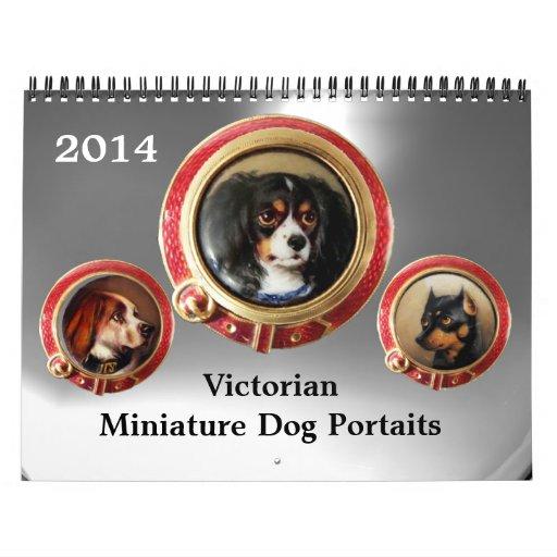 VICTORIAN ENAMELS /MINIATURE DOG PORTRAITS 2014 CALENDARS
