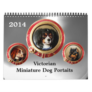 VICTORIAN ENAMELS /MINIATURE DOG PORTRAITS 2014 CALENDAR