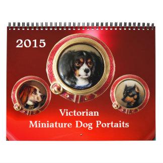 VICTORIAN ENAMELS /MINIATURE DOG PORTRAITS 2015 WALL CALENDAR