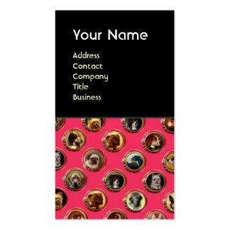 VICTORIAN ENAMELS /MINIATURE DOG PORTRAITS,Pink Business Card